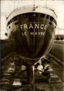 BATEAUX - PAQUEBOT - TRANSATLANTIQUE - Le FRANCE - SAINT NAZAIRE - Beau Cachet - Dampfer