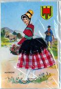 Carte Brodee AUVERGNE, Neuve ,sous Blister Avec Enveloppe, Illustrateur Eloi - Bestickt