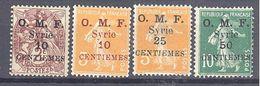Syrie: Yvert N° 83/87*; Le 86(*) - Syrien (1919-1945)