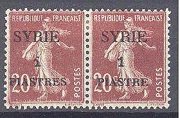 Syrie: Yvert N° 109/109a* Variété Piastre Sans S Se Tenant - Syria (1919-1945)