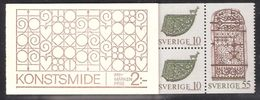 Sweden 1970 Blacksmith Art Mi 666-670 In Booklet MH 24 MNH(**) - Unused Stamps