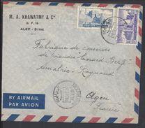 SYRIE - 1951 - Enveloppe De Alep Pour Agen (FR) - Affranchissement P. Aérienne 25 + 15 P. - Syrië
