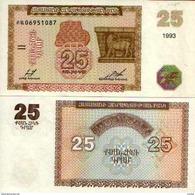 Arménie - Armenia 25 DRAM (1993) Pick 34 NEUF - UNC - Arménie