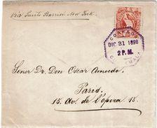 CTN-51A / GUATEMALA LETTRE DU 31/12/1898 AVEC CONTENU - Guatemala