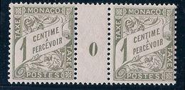 MONACO - TAXE 1  1C OLIVE MILLESIME 0 NEUF* MLH COTE 14 EUR - Impuesto