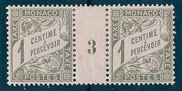 MONACO - TAXE 1  1C OLIVE MILLESIME 3 NEUF* MLH COTE 40 EUR - Impuesto