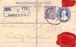 INDIA - RECO 1913 BOMBAY -> LEHNITZ/GERMANY - 1911-35 King George V