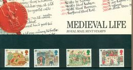 Great Britain 1986 Medieval Life Presentation Pack 172 SG 1324-1327 MNH - Presentation Packs