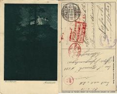 WWI PRIGIONIERI POW CAMP ELLWANGEN GERMANIA 1918 X NAPOLI - 1900-44 Victor Emmanuel III.