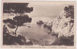 Cpa,var,toulon Est 1936,une Calanque Au Cap Brun,prés De Mourillon,endroit Trés Recherché Et Cooteux,rare - Toulon