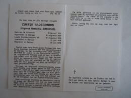 Doodsprentje Image Mortuaire Soeur Non Zuster Radegondis Eugenie Nestorine Cornelis Vilvoorde 1911 Berlaar 1978 - Imágenes Religiosas
