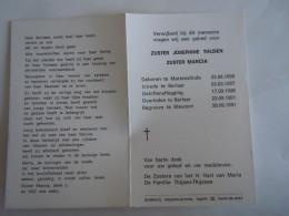 Doodsprentje Image Mortuaire Soeur Non Zuster Marcia Josephine  Thijzen Martenslinde 1909 Berlaar 1991 Begraven Stevoort - Imágenes Religiosas
