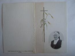 Doodsprentje Image Mortuaire Soeur Non Zuster Angèle Maria Dirckx Mechelen 1921 2001 Overste Gasthuiszusters - Devotieprenten