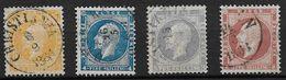 Norvège 1856 N° 2/5 Oblitérés Roi Oscar 1er - Norvège