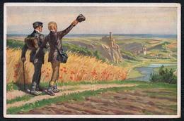 A5336 - Alte Künstlerkarte Volksliederkarte Nr. 30- Paul Hey - Wohlauf Die Luft Geht Frisch Und Rein - VDA - Hey, Paul