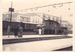 """CARD LOCOMOTIVA ELETTRICA TRIFASE E 431 FERMA STAZIONE FORSE SANREMO PHOTO Cm.10X7 """"(IMPERIA) -2-0882-27455 - Trains"""