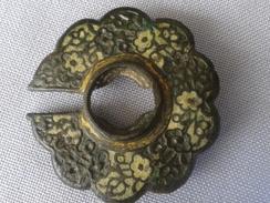 Medieval Belt Buckle Gilded,emailed - Archéologie