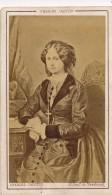 Photo CDV Portrait Dessiné De La Comtesse De Chambord Photographe Jacotin Paris Circa 1870 - Anonymous Persons