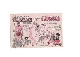Buvard Journal D'enfants Tarzan Et L'intrepide - Buvards, Protège-cahiers Illustrés