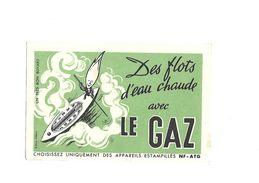 Buvard Le Gaz Des Flots D'eau Chaude - Elettricità & Gas