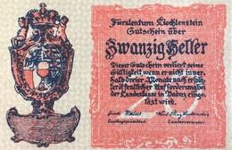 Liechtenstein 20 Heller, P-2, 1920 UNC - Liechtenstein