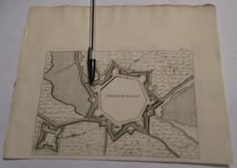 Aardenburg Bij Sluis In Zeeland - Oude Kaart Uit 1735 - Other