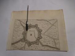 Hulst In Zeeland - Oude Kaart Uit 1735 - Other