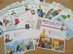 Lot De 62 Fiches Tintin. Hergé - Autres Collections