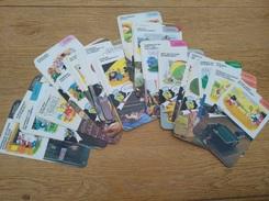 Lot De 64 Fiches Walt Disney 1984 - Autres Collections
