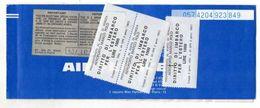 AIR FRANCE Billet De Passage Et Bulletin De Bagages  Passenger Ticket And Baggage Check 1975 - Biglietti