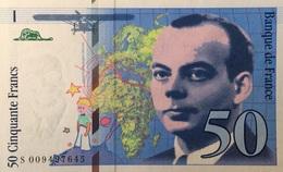 France 50 Francs, P-157b Éxupéry 1993 UNC - 1992-2000 Aktuelle Serie