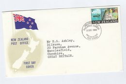 1969  NEW ZEALAND FDC Stamps FISH , FISHING SHIP Cover - Fishes