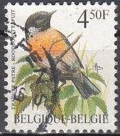 Belgique 1990 COB 2397 O Cote (2016) 0.20 Euro Traquet Pâtre Cachet Rond - Belgique