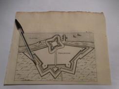 Philippine Bij Terneuzen   -   Oude Kaart Uit 1735 - Other