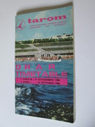 Tarom Timetable Flight-Flight Plan Information/Horaire De Vol /Apr.1-Oct.31,1980/pages=60,size=185 X 110 Mm - Europe
