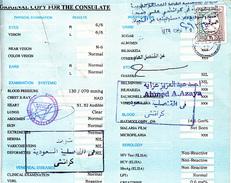 Saudi Arabia Revenue Stamp On Document       (X-572) - Saudi Arabia
