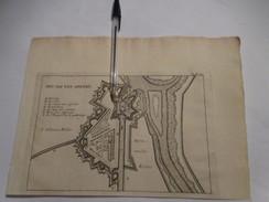 Sas Van Gent  - Zeeland  -   Oude Kaart Uit 1735 - Other
