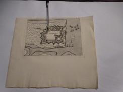 Ijzendijke Bij Sluis  - Zeeland  -   Oude Kaart Uit 1735 - Other