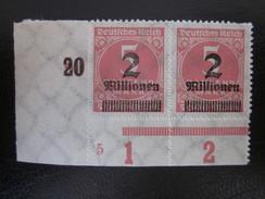 Deutsches Reich Nr. 312 PAAR Eckrand Postfrisch** (B43) - Allemagne