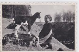 Ziege Und Mädchen / Goat And Girl / Chèvre Et Fille - Animaux & Faune