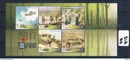 Australia  2017 Ww1 Cent 5 Val Mini Sheet Stamps Muh AA812 - Nuovi