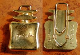 Belle Broche De KOOKAÏ Oui-Non En Métal Doré (peut Aussi Se Porter En Sautoir) - Perfume Miniatures