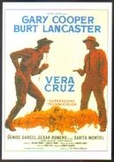 Carte Postale (cinéma Affiche Film Western) Vera Cruz (Gary Cooper - Burt Lancaster - Sarita Montiel) - Affiches Sur Carte