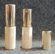 Beau Petit Vaporisateur De Sac Avec Plaquage De Nacre Et Métal Doré - Perfume Miniatures
