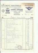 Facture De Ets TERNOIS ANDRE Electricité Industrielle Moteur JEUMONT A Bayonne 64 Adressé A Mr Talpone  A Anglet En 1965 - Electricity & Gas