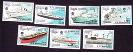Cambodia, Scott #860-866, Mint Hinged, Ships, Issued 1988 - Cambodge