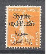 Syrie: Yvert N° 127b*; Variété Double Surcharge - Syrien (1919-1945)