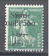 Syrie: Yvert N° 127b*; Variété Double Surcharge - Syria (1919-1945)