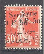 Syrie: Yvert N° 132b*; Variété Double Surcharge - Syria (1919-1945)