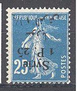 Syrie: Yvert N° 131a*; Variété Surcharge Renversée - Syria (1919-1945)